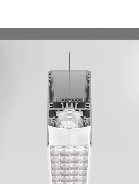 Artemide Architectural A.39 Suspension Controlled Emission UP/DOWN AR AT19505 Silver