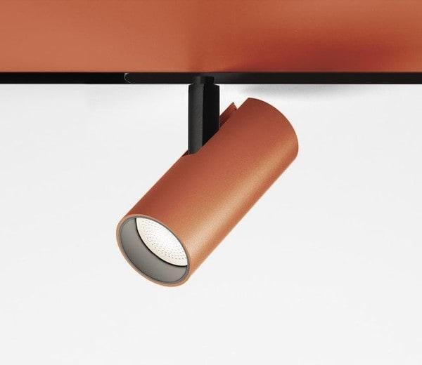 Artemide Architectural Vector Magnetic 55 DALI spot AR AP10118 Brushed copper