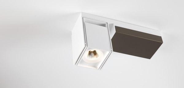 Modular Lighting Rektor LED Warm Dim Tre Dim GI MO 12826366 White structured / Smoked bronze