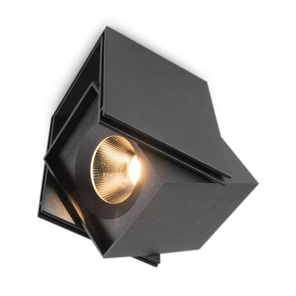 Modular Lighting Rektor Recessed LED Warm Dim GE MO 12821232 Black structured