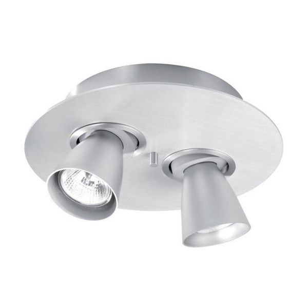 PSM Lighting Cupido II orientable surface-mounted ceiling lamp with 65mm chalice PS 622.ES50.11.40 Metallic grey