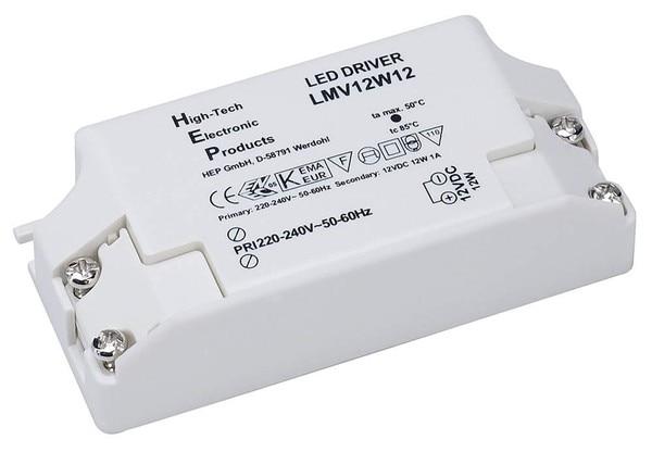 SLV Power Supply 12Vdc 12W DM 470507 White